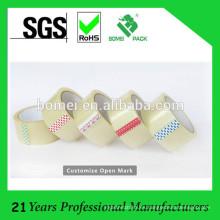 El logotipo de encargo adhesivo fuerte imprimió la cinta de embalaje de BOPP con el logotipo de la compañía