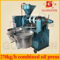 Guangxin 270 kg / H Maize Oil Máquina Que Faz A Vácuo com Filtro De Óleo De Vácuo Yzyx120wz