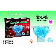 Rompecabezas de rompecabezas del cristal 3D del corazón del amor de DIY 40PCS
