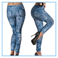 3D gedruckte reizvolle nahtlose Frauen Jeans-Gamaschen