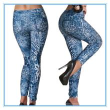Polainas de los pantalones vaqueros de las mujeres inconsútiles impresas 3D impresas