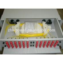 19 pouces ODF 12/24/48/72 / 96core Fibre optique Boîte de distribution, cadre de distribution optique à fibre de tiroir, boîte de distribution