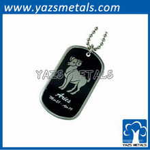 personalize a etiqueta de cão do exército do horóscopo, tag de cão de Aries