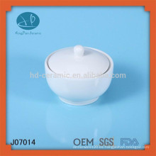 Tarro de cerámica blanca tarro de albañil tarro de porcelana lata de porcelana