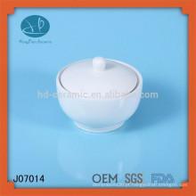 Jarro de cerâmica branca frasco de mason frasco de porcelana lata de porcelana