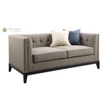 Muebles de sala de estar contemporáneos Sofá de tela de doble asiento
