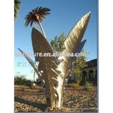 Escultura moderna al aire libre del acero inoxidable del árbol