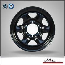 Hign de calidad 16x6 pulgadas de acero negro de la rueda de la rueda de coche