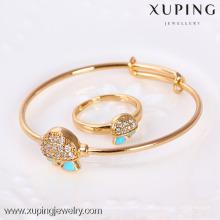 61117 - Xuping ювелирные изделия латунь браслет и кольцо детские наборы