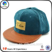 Custom Plain Leather Patch Snapback Hat