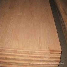 Worktops de madeira de carvalho vermelho para móveis