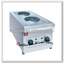 K280 Küchengeräte Elektrischer 2 Kochplattenkocher