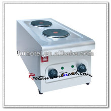 K280 Equipamento de cozinha Elétrico 2 Fogão com placa quente