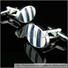 Mancuernillas de raya azul de lujo VAGULA gemelos (Hlk31733)
