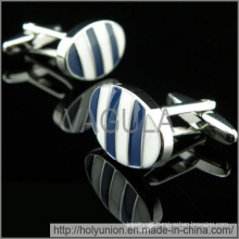 VAGULA Cuff Links Luxury Blue Stripe Cufflinks (Hlk31733)