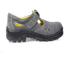 Genuine Leather PU Steel Toe grey add yellow color Genuine Leather PU Steel Toe grey add yellow color