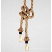 Popular Industrial Fancy Hemp Rope Lamp Edison Pendant Light