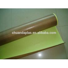 Fabricante PTFE impregnado cinta de fibra de vidrio Cinta de teflón PTFE recubierto de tela