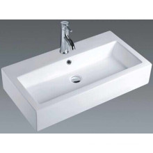 European Style Bathroom Ceramic Rectangular Basin (7180)