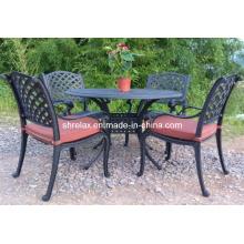 Comedor al aire libre jardín Metal Set muebles de jardín de aluminio fundido