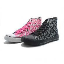 Pattern Canvas Basic Classical Bandage Ladies Sneakers Men High Shoes