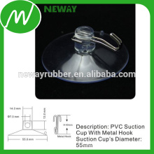 Factory Price 55mm Clear Hook Suction Cup