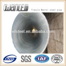 Astm a106 grade b tubo de acero corrugado de gran diámetro para fluidos