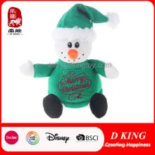 Boneco de neve recheado de presente de Natal com camisola