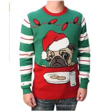 PK1861HX Hässlicher Weihnachtsstrickpullover Leuchten Pullover