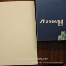 Alunewall blanc satin gaufré panneau composite en aluminium brillant (acp) facorty vente directe