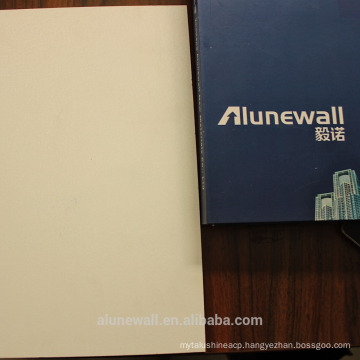 Alunewall white satin embossed glossy aluminum composite panel (acp) facorty direct selling