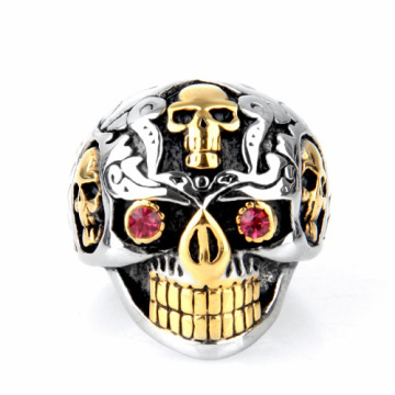 Retro-Stil Sweatproof Titanium Steel Skull Ring