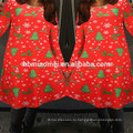 Рождество Красный Цвет Рождественская Елка Напечатаны Мама И Дочь Платья Семья Посмотрите Одежда Мать Дочь Одежда