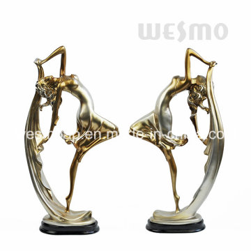 Polyresin Dancing Girl Figurine (WTS0010A)