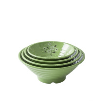 New type top sale melamine tableware noodle bowl embossed cheap set plate