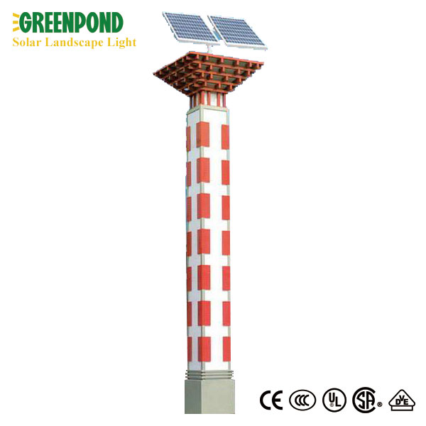 Solar Landscape Light with Colorful Pole