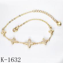 Bijoux à la mode 925 Silver Micro Pave CZ Bracelets pour les jeunes filles.