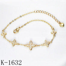 Moda jóias 925 prata micro pave cz braceletes para as meninas.
