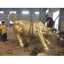 garden decorations life size metal crafts cast bronze bull sculpture