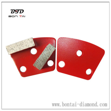 General purpose wet/dry use trapezoid double rectangular segments for grinding machine