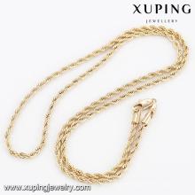 41576- Xuping Jewelry Fashion Gold Palted novo design de corrente de ouro para homens