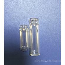 Bouteille en verre clair tubulaire bouteille forme Mini Perfume