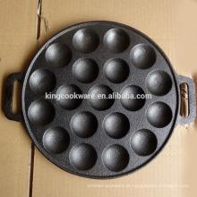 assadeira de ferro fundido assando panela de bolo redonda pan 19 buracos