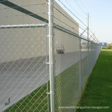 Chain Link Fence for Door Protection