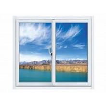 Fenêtre coulissante verticale de vinyle simple accrochante (BHA-LW010)