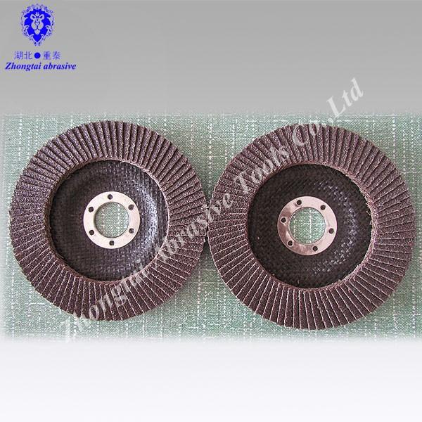 """4-1//2"""" X 7//8/"""" Flap Aluminum Oxide Grinding Discs 40 Grit 10-pc"""