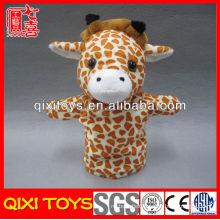 Cute adult hand puppet plush giraffe hand puppet