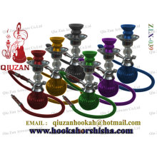 Coloured Glass Small-shisha Hookah with metal and ceramic parts
