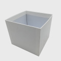 White Color Perak Stamping Rigid Cardboard Flower Box