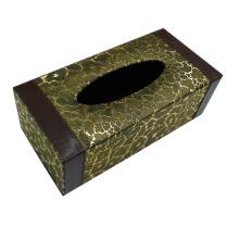 Rectángulo caja de tejido de cuero para el hotel